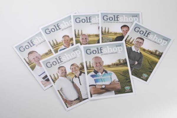 Tryckt broschyr, golf