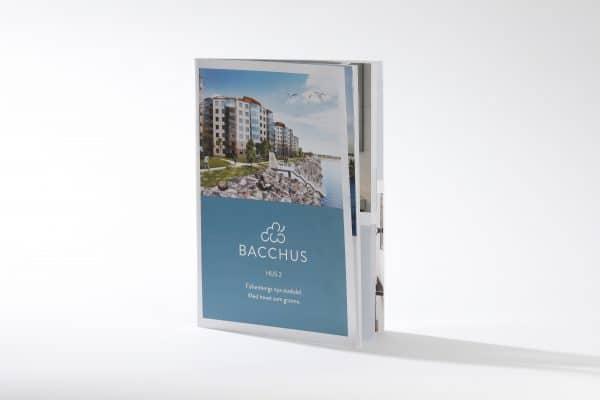 Tryckt broschyr layout exempel